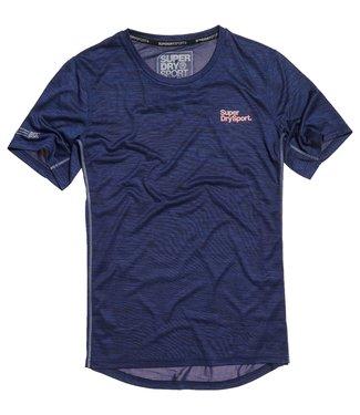Superdry Superdry Sport Active T-Shirt Navy Melange