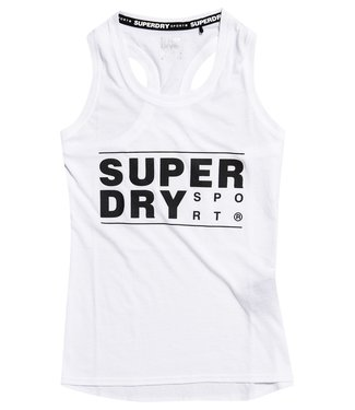 Superdry Superdry Sport CORE SPORT GRAPHIC TANK White