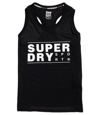 Superdry Superdry Sport CORE SPORT GRAPHIC TANK Black