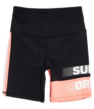 Superdry Superdry Sport TRAINING GRAPHIC TIGHT SHORTS Black Coral