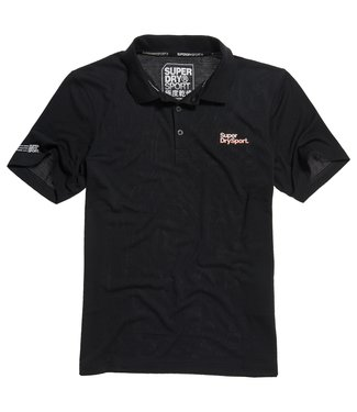 Superdry Superdry Sport Training Polo Black