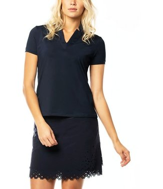 Lucky in Love Lucky in Love Chi Chi Polo Shortsleeve Navy