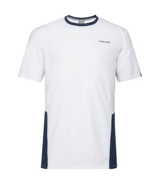 Head Head CLUB TECH T-SHIRT White/Navy