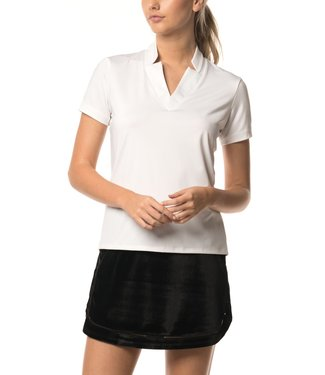 Lucky in Love Lucky in Love Chi Chi Polo Shortsleeve White