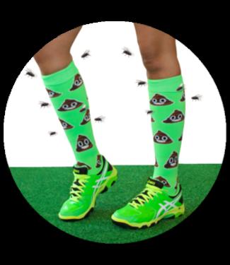 Hingly Hingly Funsokken Poep Emoji Groen
