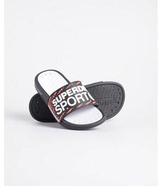 Superdry Superdry Swimsport Pool Slippers Black/Orange