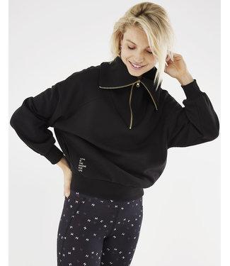 Mexx Sport Mexx Sport Oversized Halfzipp Sweater Black