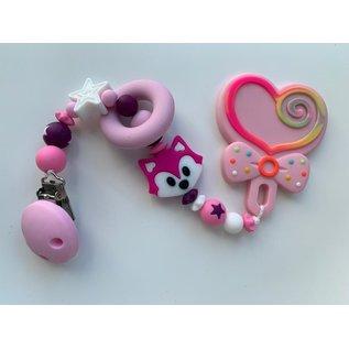 Wurmito Beisskette rosa/pink