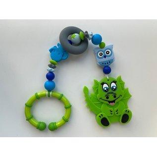 Wurmito Beisskette grün/blau mit Halter
