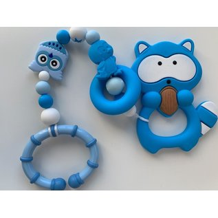 Wurmito Beisskette blau mit Halter
