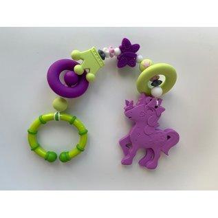 Wurmito Beisskette violett/grün mit Halter