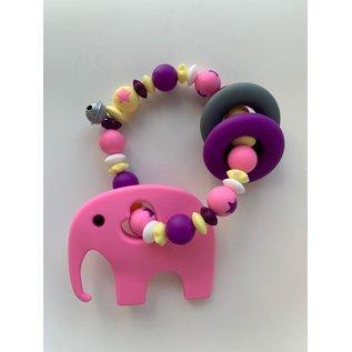 Wurmito Beissringkette rosa/violett