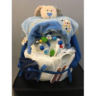 Wurmito Windel-Torte blau