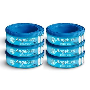 Angelcare Nachfüllkassette 6er Pack blau