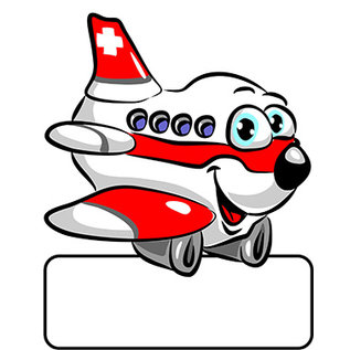 Hotstar AG Flugzeug rot Geburtstafel
