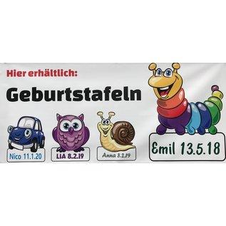 Hotstar AG Schnecke Geburtstafel