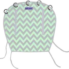 Dooky Sonnensegel Mint & Grey Chevron
