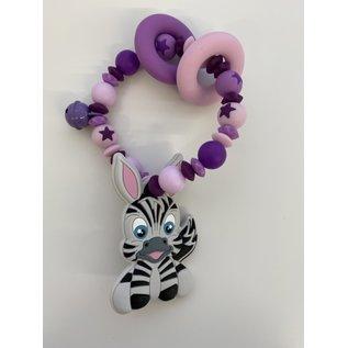 Wurmito Beissringkette violett/rosa