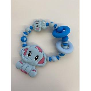 Wurmito Beissringkette hellblau/blau