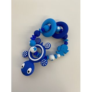 Wurmito Beissringkette blau/hellblau