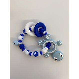 Wurmito Beissringkette blau/weiss