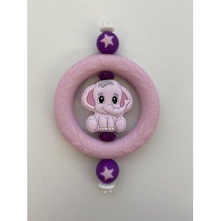 Wurmito Beissring rosa/violett