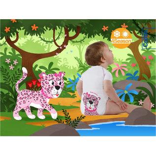 Vivosan J Bimbi Kurzarm-Body Leopard