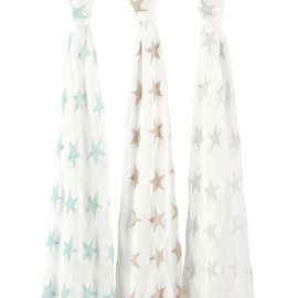 aden + anais Pucktuch silky soft swaddle - milky way