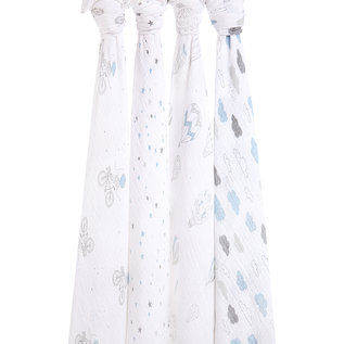 aden + anais Pucktuch classic swaddle - night sky reverie