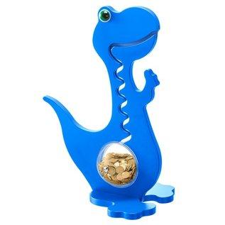 BigBellyBank Tierkässeli - Dino blau einfarbig