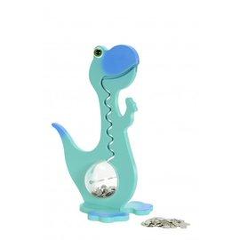 BigBellyBank Tierkässeli - Dino petrol inkl. Spardino-Kinderbuch