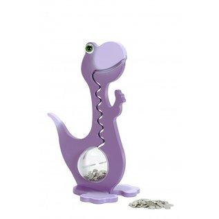 BigBellyBank Tierkässeli - Dino violett inkl. Spardino-Kinderbuch