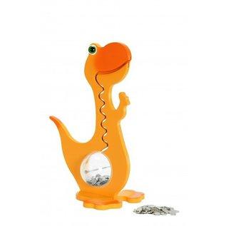 BigBellyBank Tierkässeli - Dino orange inkl. Spardino-Kinderbuch