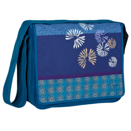 Lässig Wickeltasche Messenger Bloom Petrol