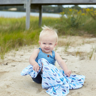 aden + anais Pucktuch classic swaddle - gone fishing