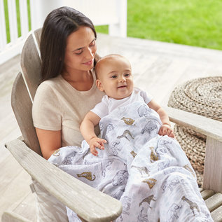aden + anais Pucktuch classic swaddle - jungle