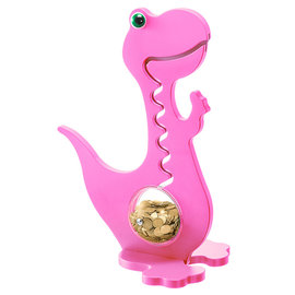 BigBellyBank Tierkässeli - Dino rosa einfarbig