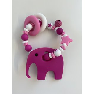 Wurmito Beissringkette rosa/weiss