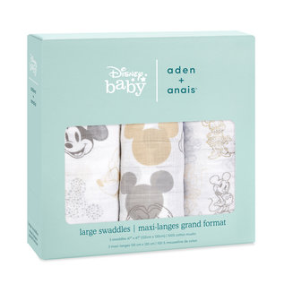 aden + anais Pucktuch classic swaddle - mickey+minnie