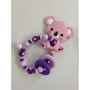 Wurmito Beissringkette rosa Koala