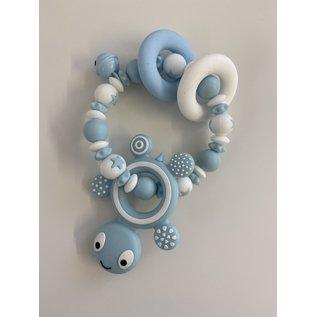 Wurmito Beissringkette blau Schildkröte