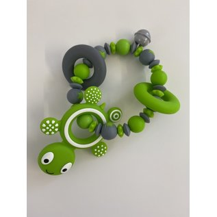 Wurmito Beissringkette grün Schildkröte