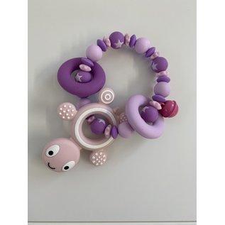Wurmito Beissringkette rosa Schildkröte