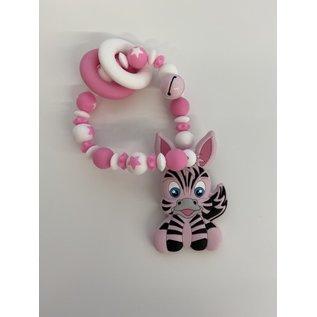 Wurmito Beissringkette rosa Zebra