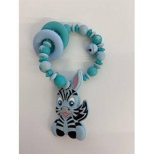 Wurmito Beissringkette blau Zebra
