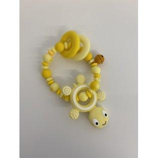 Wurmito Beissringkette gelb Schildkröte