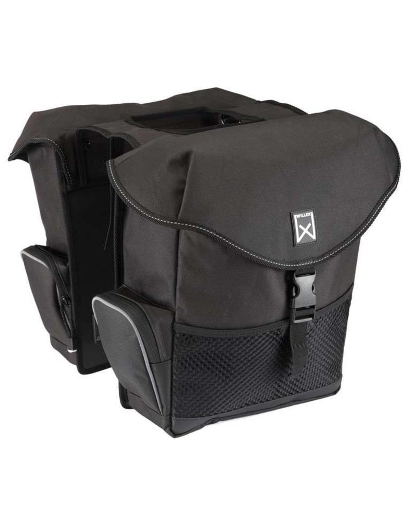 Willex dubbele bagagetas XL zwart 34L