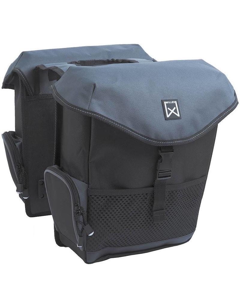 Willex dubbele bagagetas zwart/grijs 24L
