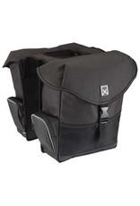 Willex dubbele bagagetas zwart 24L