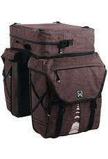Willex bagagetas XL 1200 met bovenvak bruin